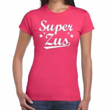 Super zus fun t-shirt roze voor dames prijs