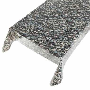Tafelkleden/tafelzeilen met stenen motief 140 x 245 cm rechthoekig pr