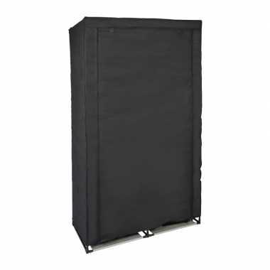Tijdelijke kledingkast/garderobekast zwart met rits 169 cm prijs
