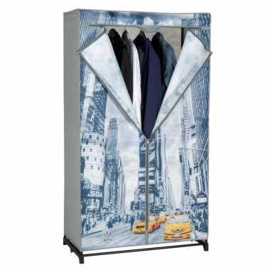 Plastic Kledingkast Met Rits.Tijdelijke Mobiele Kledingkast Garderobekast New York Met Rits 156