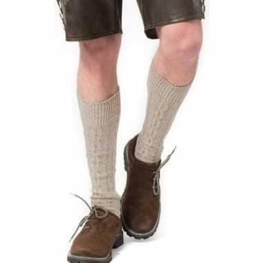 Tiroler / bierfeest/ lederhose sokken creme heren en dames prijs