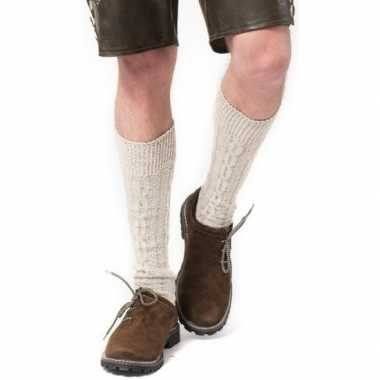 Tiroler / bierfeest/ lederhose sokken gebroken wit heren en dames pri