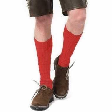 Tiroler / bierfeest/ lederhose sokken rood heren en dames prijs