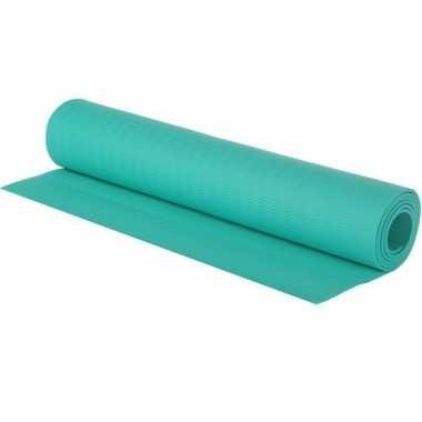 Turquoise blauwe fitness/sport mat 180 x 60 cm prijs