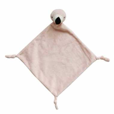 Tutteldoekje roze flamingo 40 cm prijs