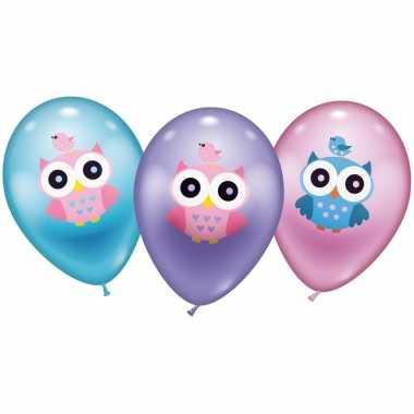 Uil ballonnen 6 stuks prijs