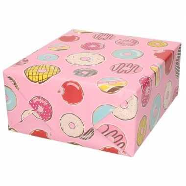 Verjaardagscadeau inpakpapier donut 70 x 200 cm prijs