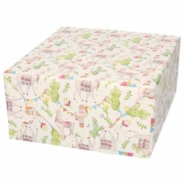 Verjaardagscadeau inpakpapier lama/alpaca 70 x 200 cm prijs