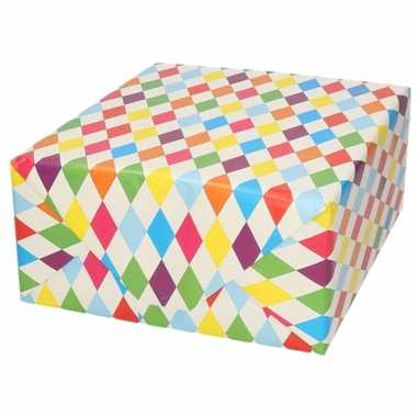 Verjaardagscadeau inpakpapier ruitjes 70 x 200 cm prijs