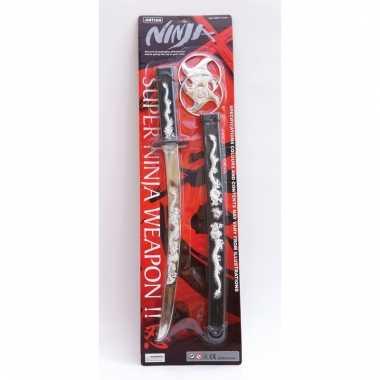 Verkleed ninja set zwaard en shuriken prijs