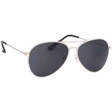 Verkleed politie/agenten zonnebril goud voor volwassenen prijs