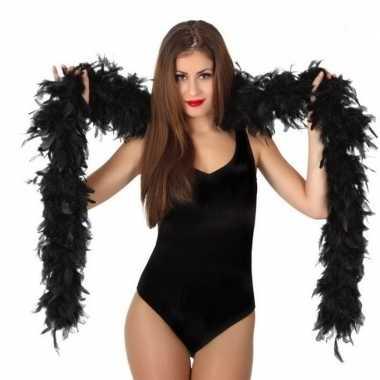Verkleed zwarte luxe boa 100 grams prijs