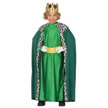 Verkleedkleding koning groen voor kinderen prijs
