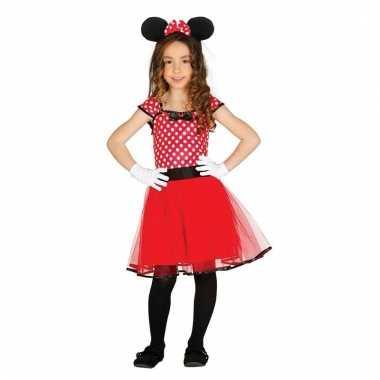 Vergelijk verkleedkleding muizen meisje rood prijs 10109765