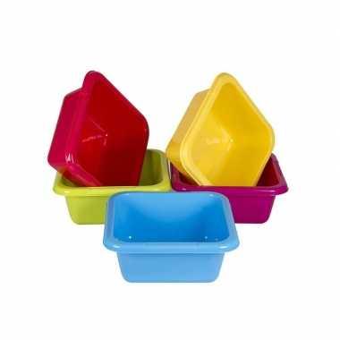 Vierkant afwasteiltje / afwasbak blauw 8 liter prijs