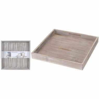 Vierkanten grey wash kaars onderborden/kaarsenborden 30 x 30 cm prijs
