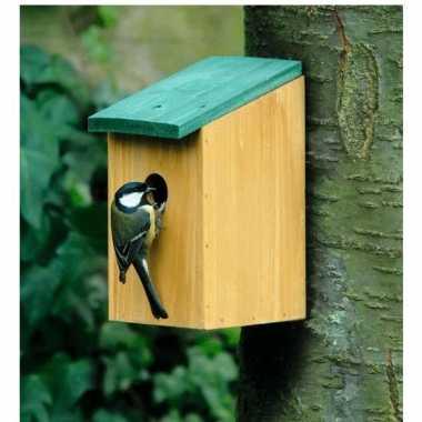 Vogelhuisjes houten netkastje 22 cm prijs