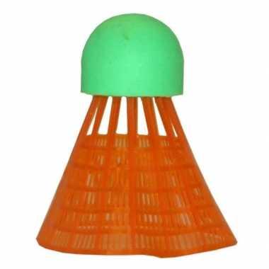 Voordelige badminton reserve shuttles oranje 6 stuks prijs