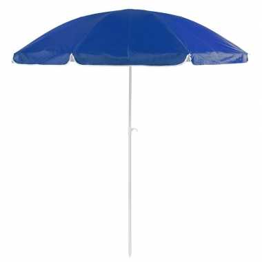 Voordelige strandparasol blauw 200 cm diameter prijs
