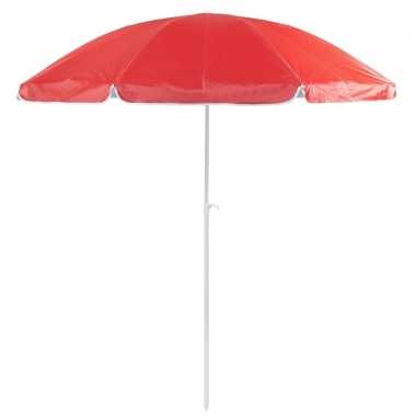 Voordelige strandparasol rood 200 cm diameter prijs