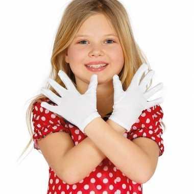 Voordelige witte kinder handschoenen prijs