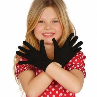 Voordelige zwarte kinder handschoenen prijs