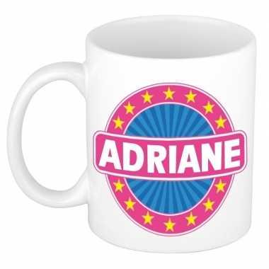 Voornaam adriane koffie/thee mok of beker prijs