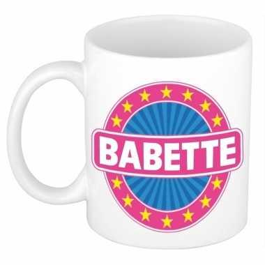 Voornaam babette koffie/thee mok of beker prijs