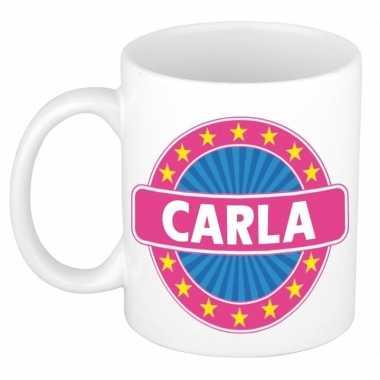 Voornaam carla koffie/thee mok of beker prijs