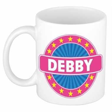 Voornaam debby koffie/thee mok of beker prijs