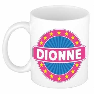 Voornaam dionne koffie/thee mok of beker prijs