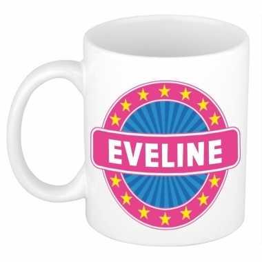 Voornaam eveline koffie/thee mok of beker prijs