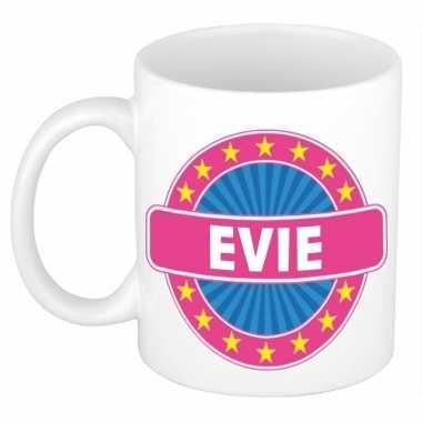 Voornaam evie koffie/thee mok of beker prijs