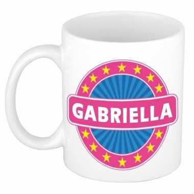 Voornaam gabriella koffie/thee mok of beker prijs