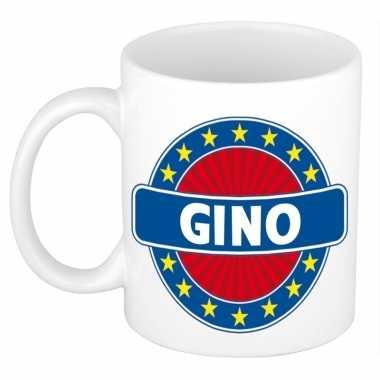 Voornaam gino koffie/thee mok of beker prijs