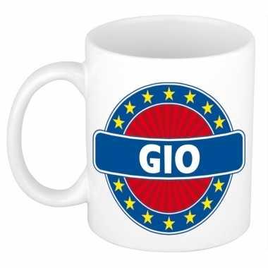 Voornaam gio koffie/thee mok of beker prijs