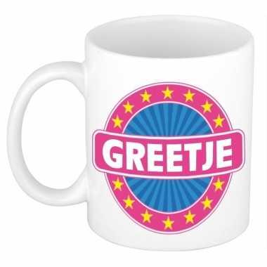 Voornaam greetje koffie/thee mok of beker prijs