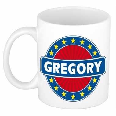 Voornaam gregory koffie/thee mok of beker prijs