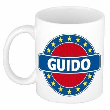 Voornaam guido koffie/thee mok of beker prijs