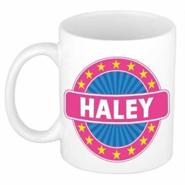 Voornaam haley koffie/thee mok of beker prijs