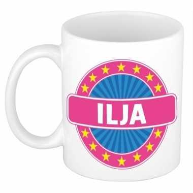 Voornaam ilja koffie/thee mok of beker prijs