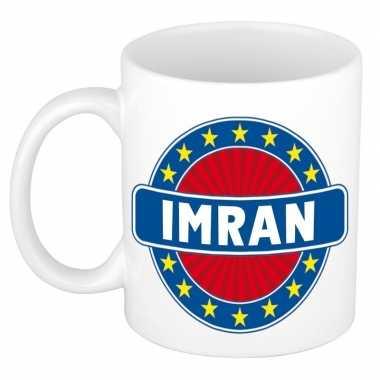 Voornaam imran koffie/thee mok of beker prijs