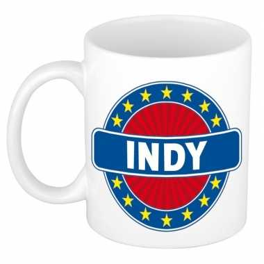 Voornaam indy koffie/thee mok of beker prijs