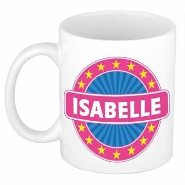 Voornaam isabelle koffie/thee mok of beker prijs