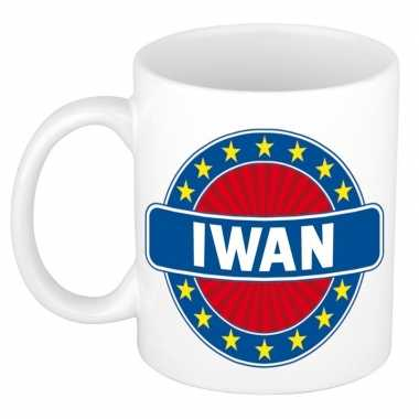 Voornaam iwan koffie/thee mok of beker prijs