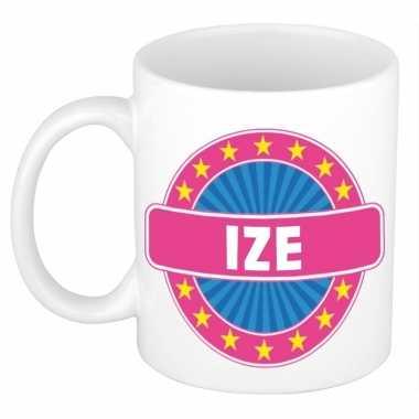 Voornaam ize koffie/thee mok of beker prijs