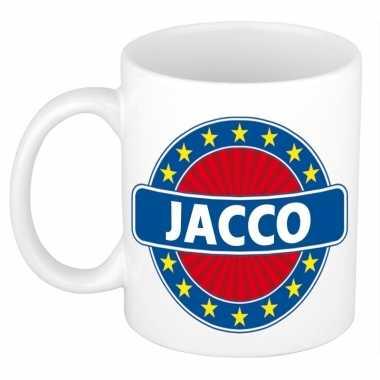 Voornaam jacco koffie/thee mok of beker prijs