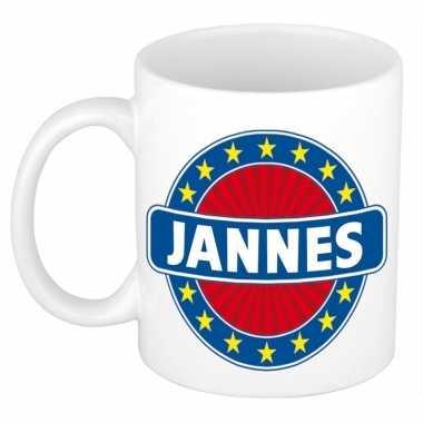 Voornaam jannes koffie/thee mok of beker prijs