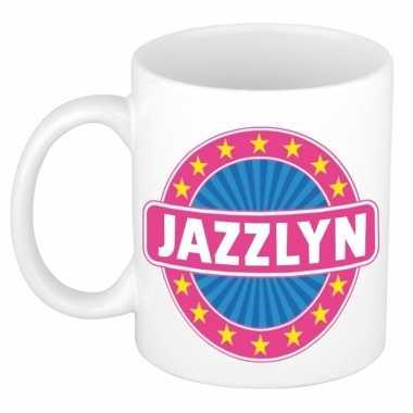 Voornaam jazzlyn koffie/thee mok of beker prijs