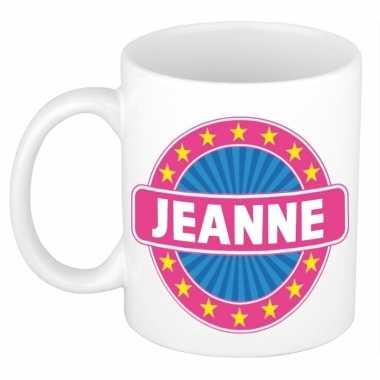 Voornaam jeanne koffie/thee mok of beker prijs